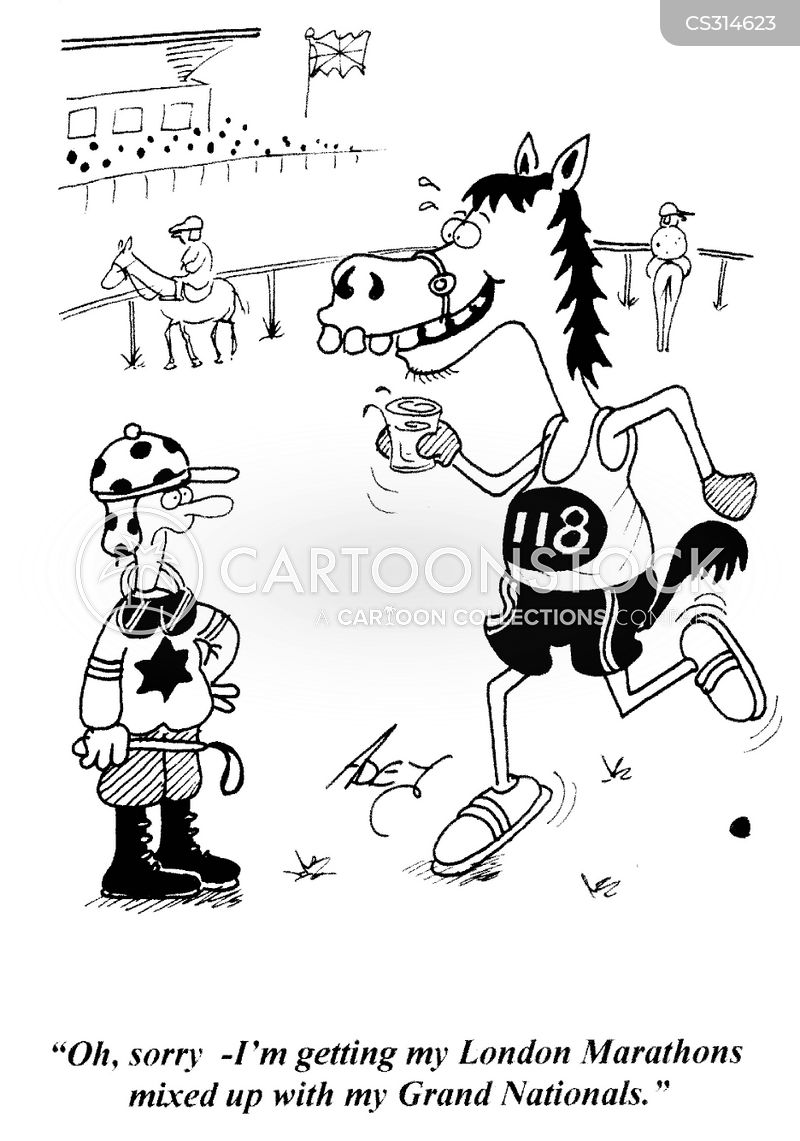 london marathons cartoon