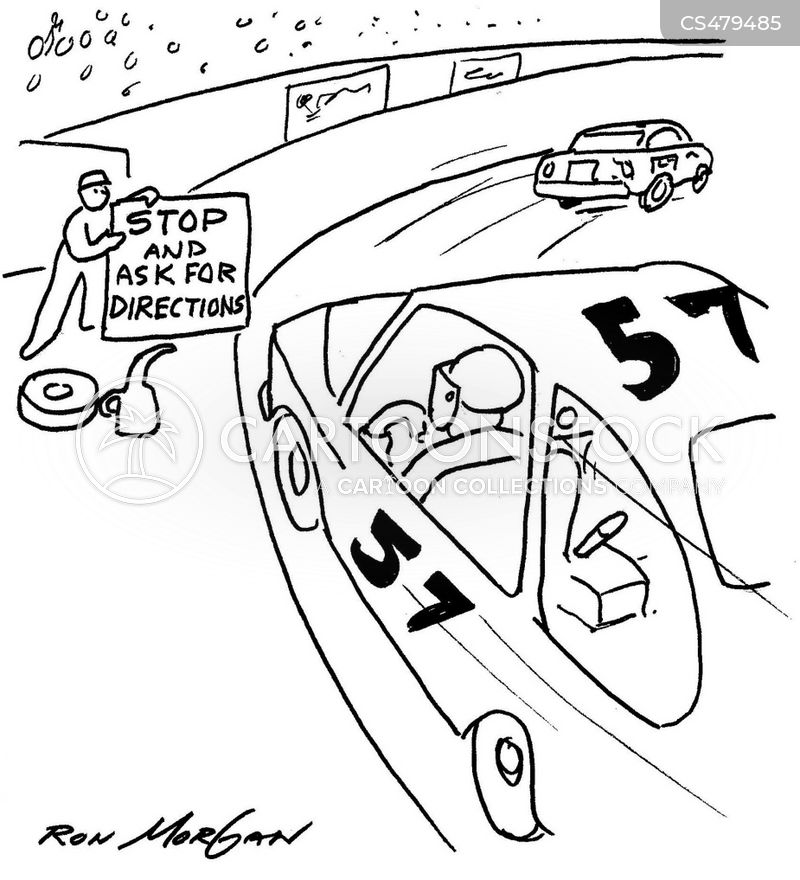 motor-sports cartoon