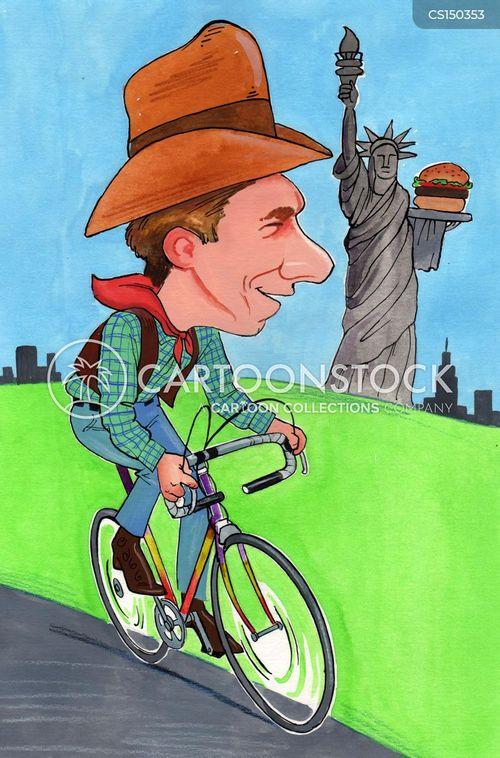 cycling champion cartoon