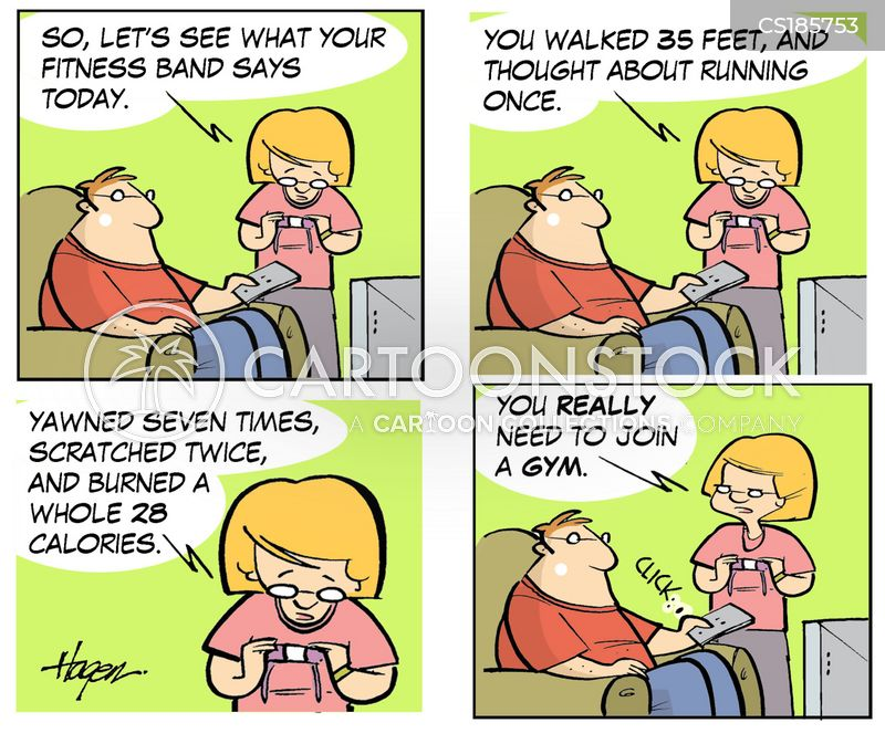 exercise tracker cartoon