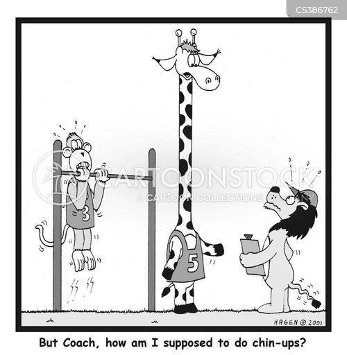 chin-ups cartoon