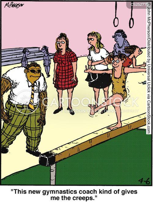 gymnastic cartoon