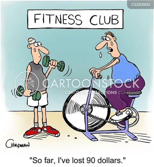 gym members cartoon