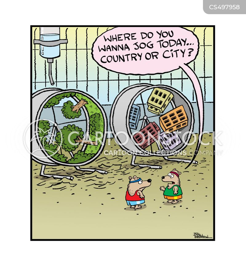 exercise wheels cartoon