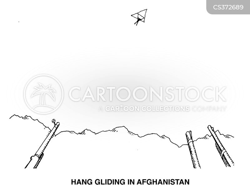 hand glider cartoon