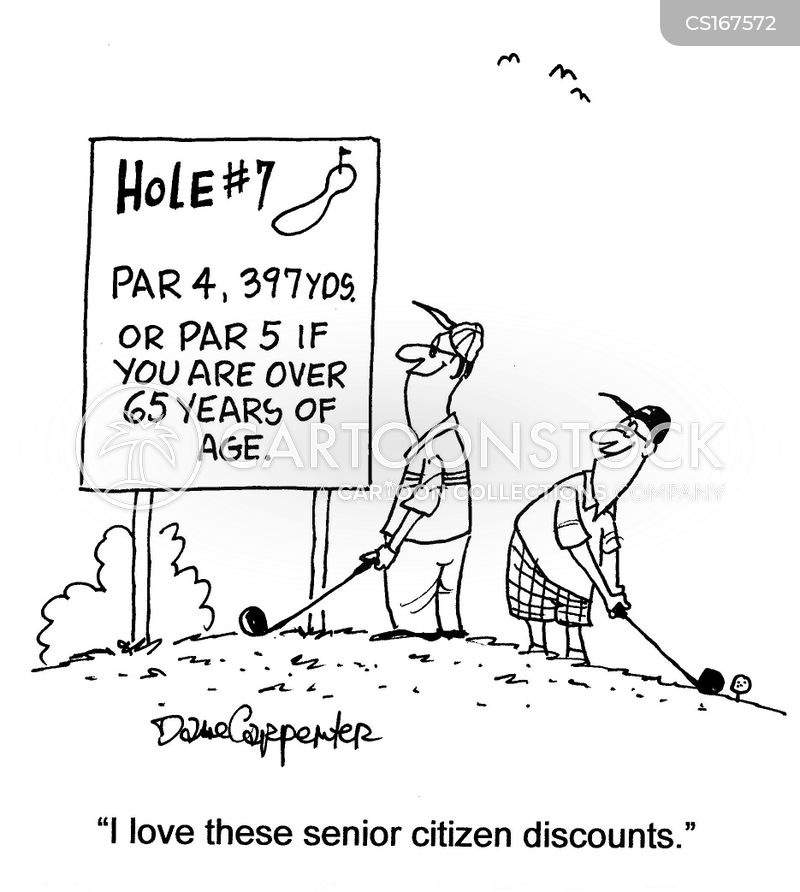 Senior Golf Cartoons Golf Holes Cartoon 1 of 31