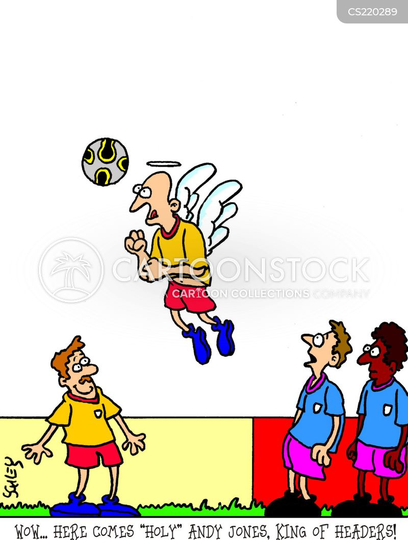 fooball players cartoon