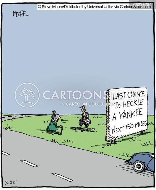 heckled cartoon