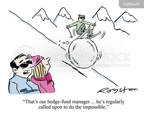ski slopes cartoon