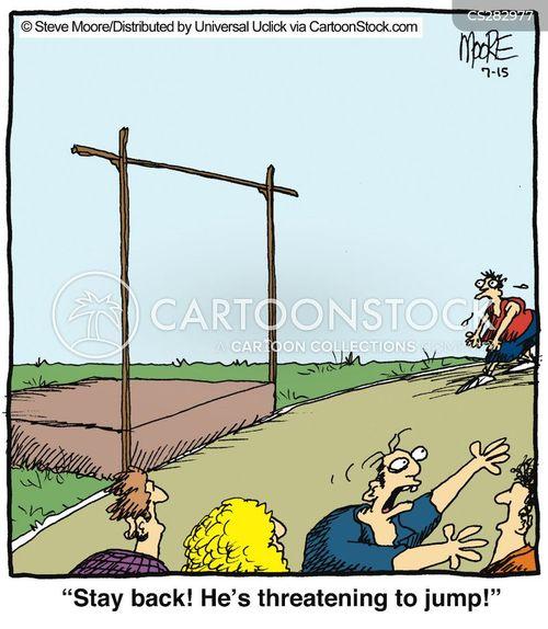 high jump cartoon
