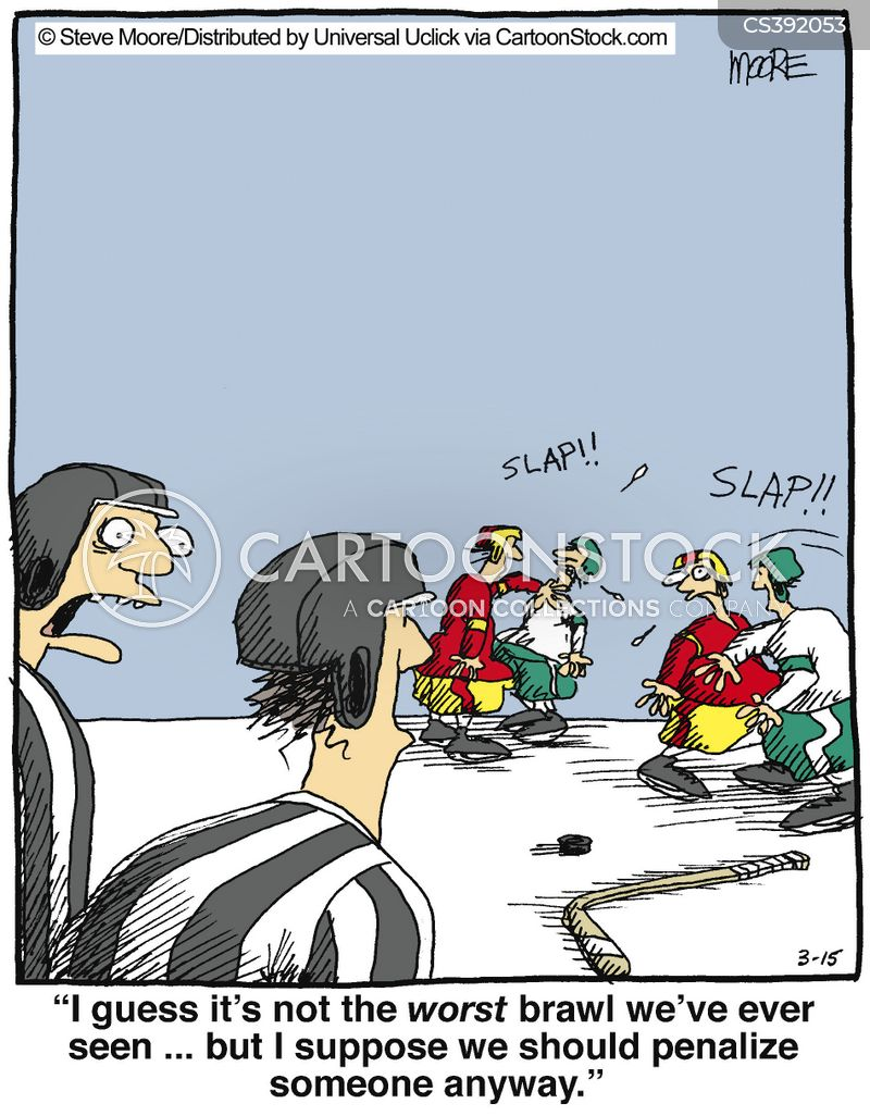 hockey match cartoons and comics funny pictures from