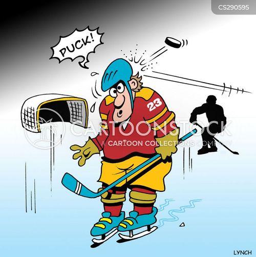 Cartoon hockey game