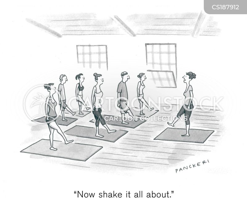 exercise class cartoon