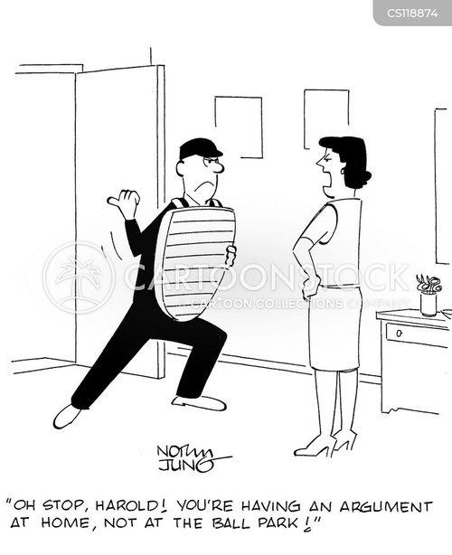 umpiring cartoon