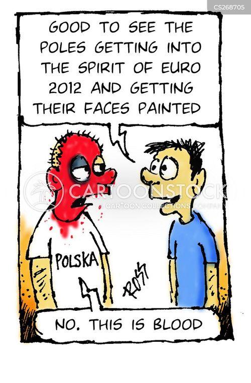 football supporters cartoon