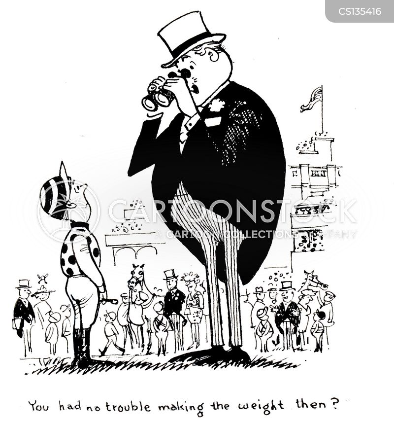 racehorse owners cartoon
