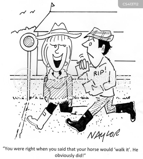 horse-races cartoon