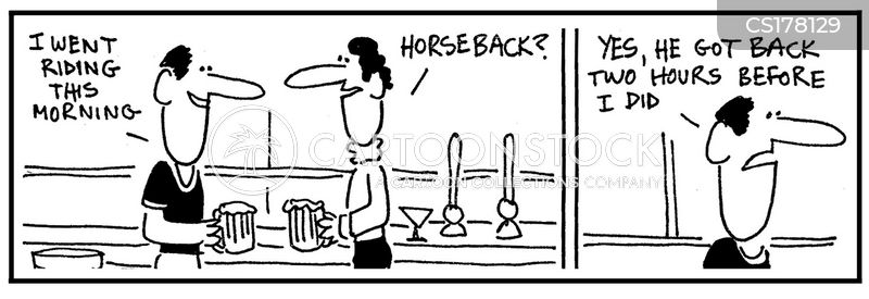 jockey cartoon