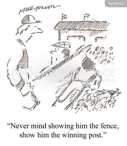 horse trainer cartoon