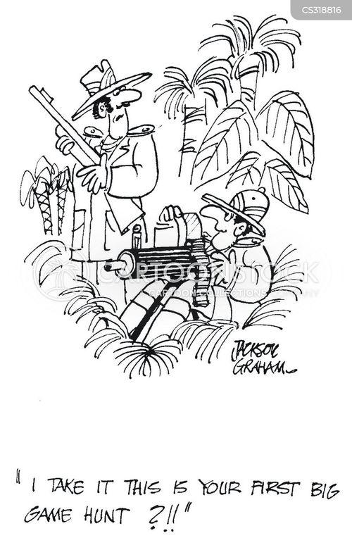 big game hunts cartoon