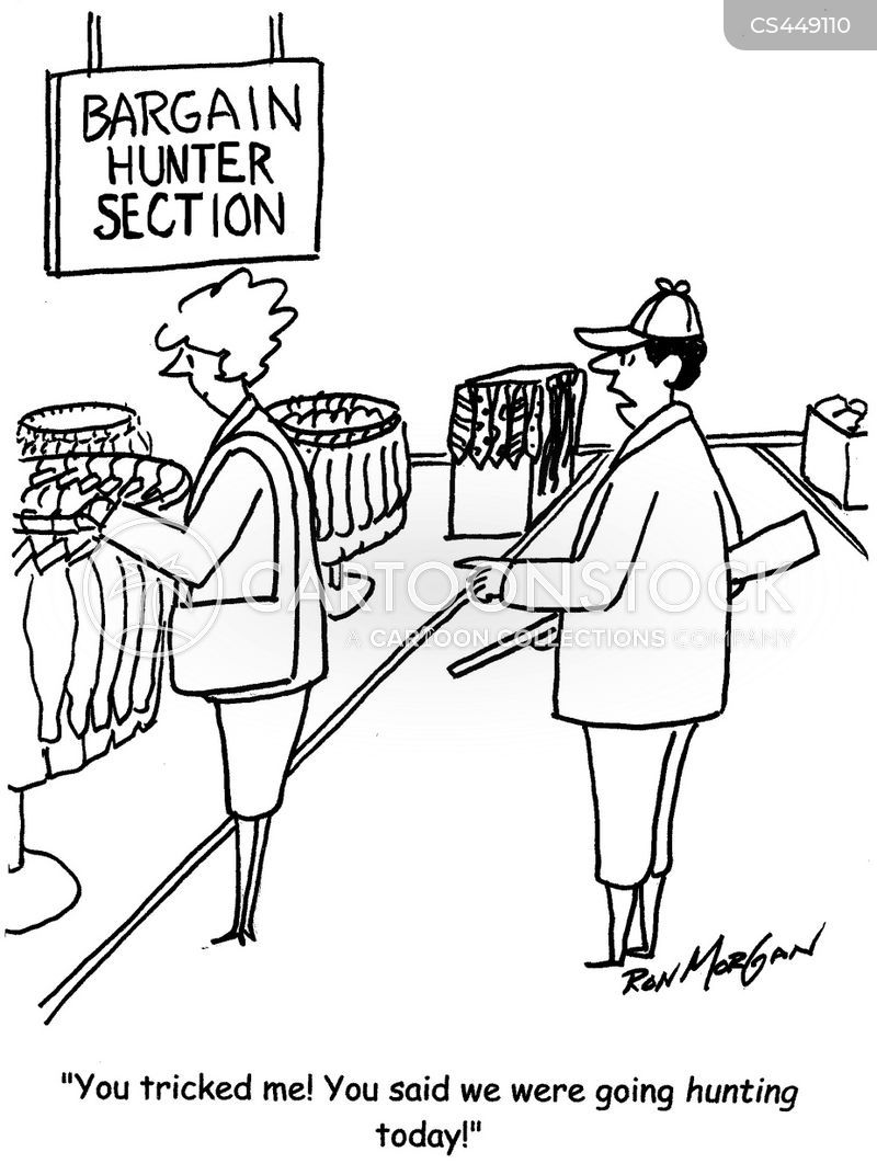 bargain hunter cartoon