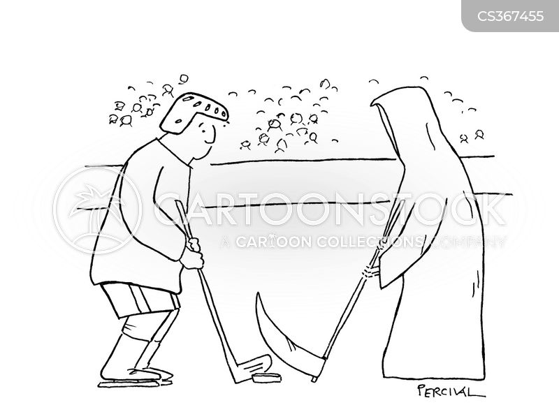 ice hockey team cartoon