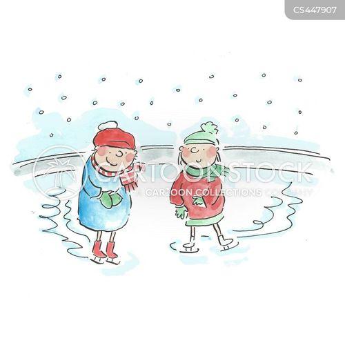 ice rinks cartoon