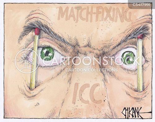 match fixing cartoon