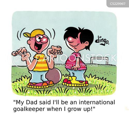 goalkeeping cartoon