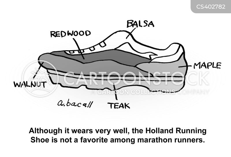 running shoe cartoon