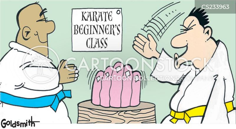 karate chops cartoon