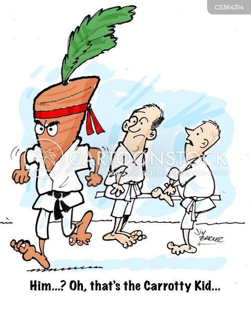 karate teachers cartoon