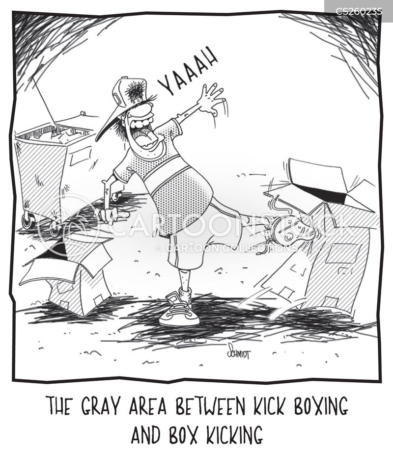 kick-box cartoon