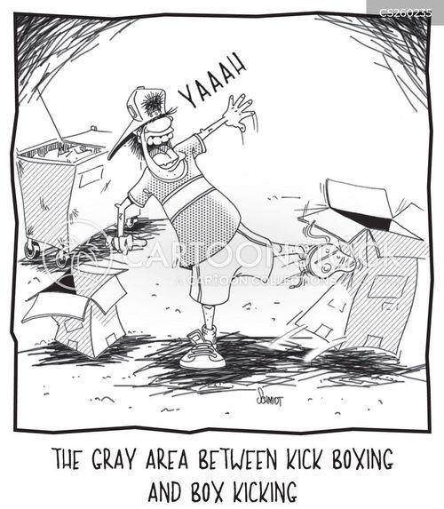 kick-boxer cartoon