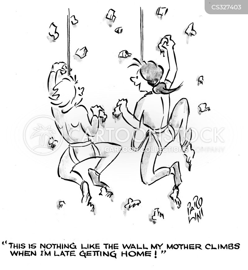 wall climbing cartoon