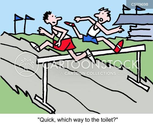 track & field cartoon