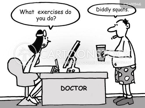squat cartoon