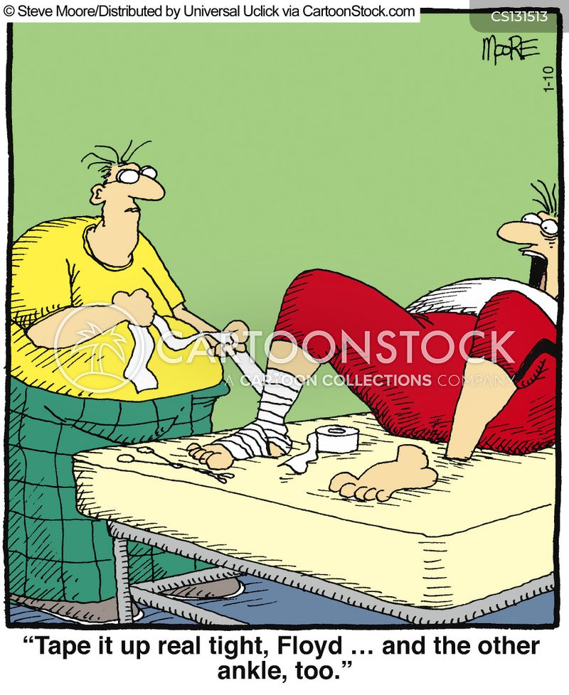 sprained cartoon