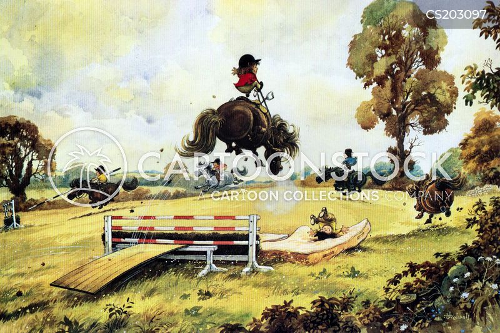 riding accidents cartoon