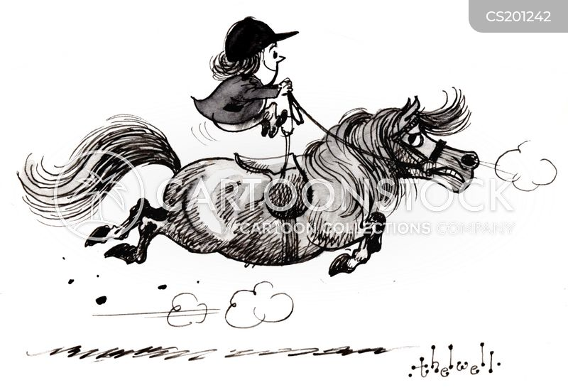 cantering cartoon