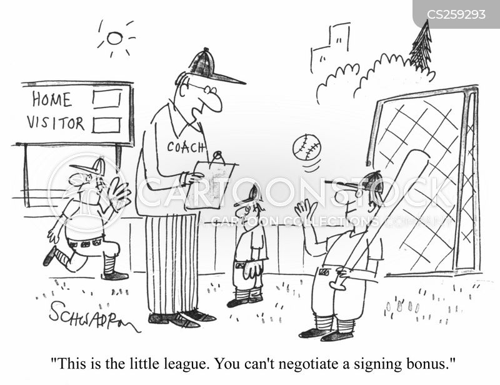 signing bonus cartoon