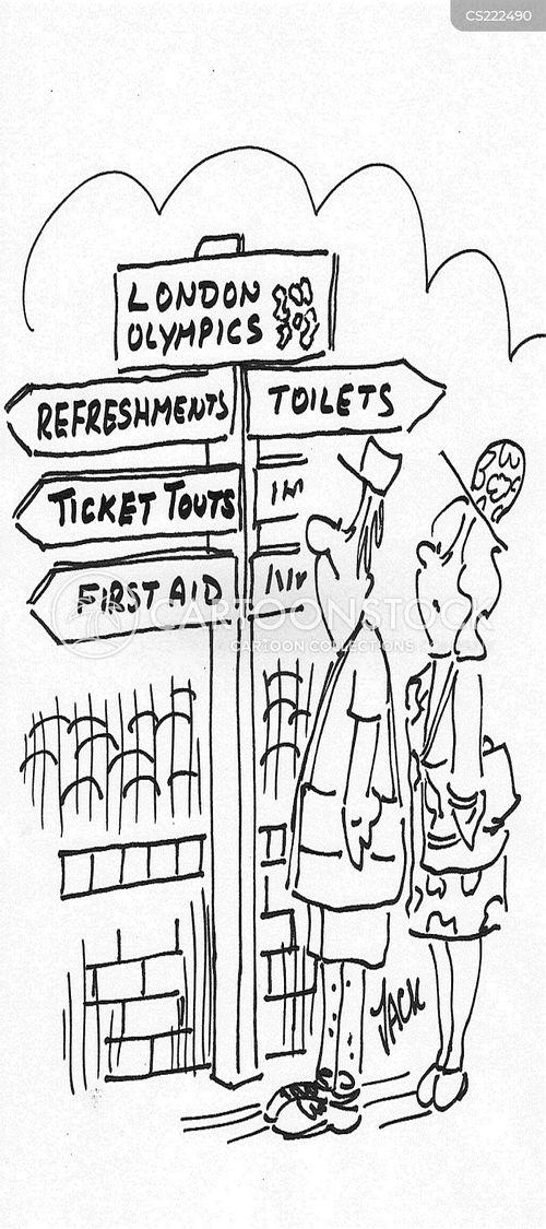world sporting event cartoon