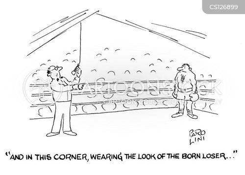 boxing announcers cartoon