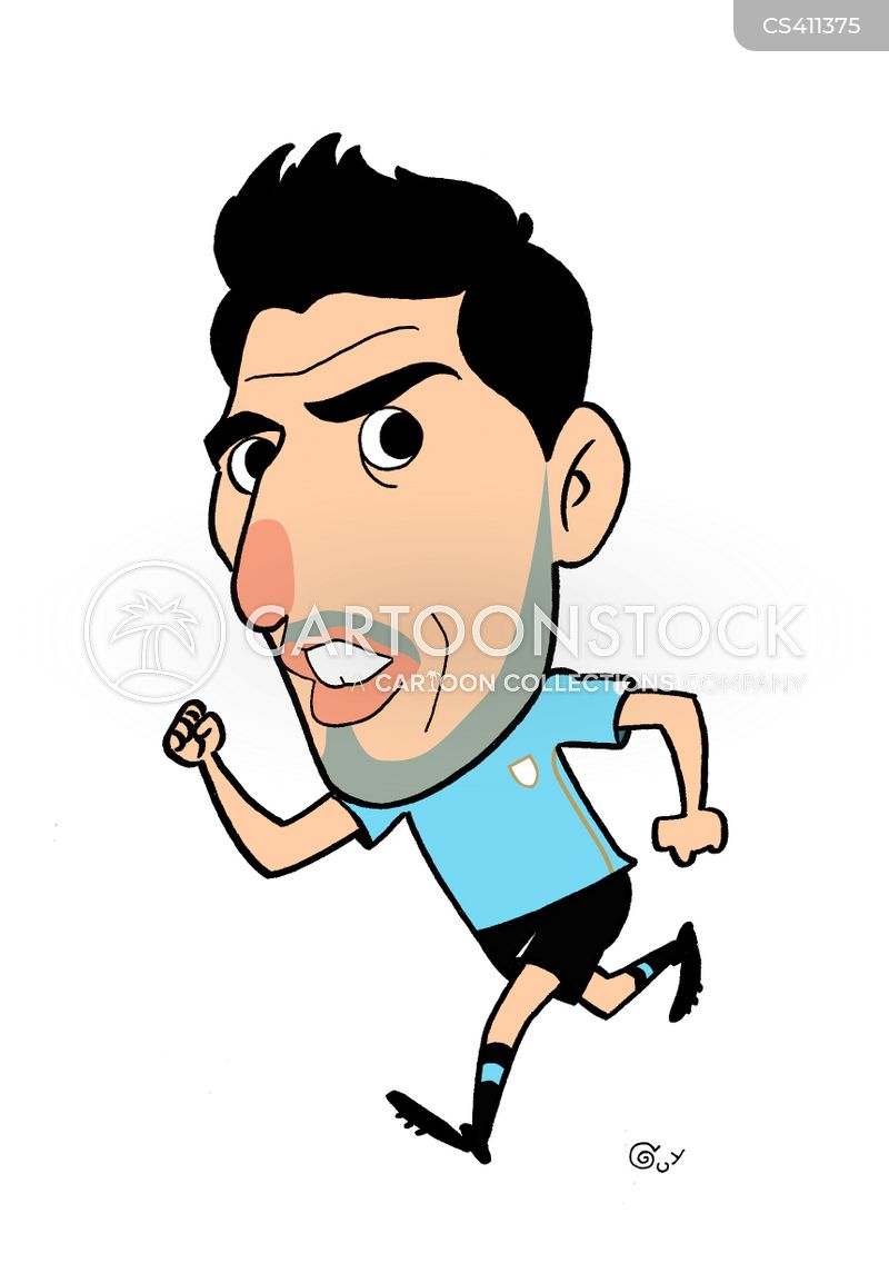 football personality cartoon