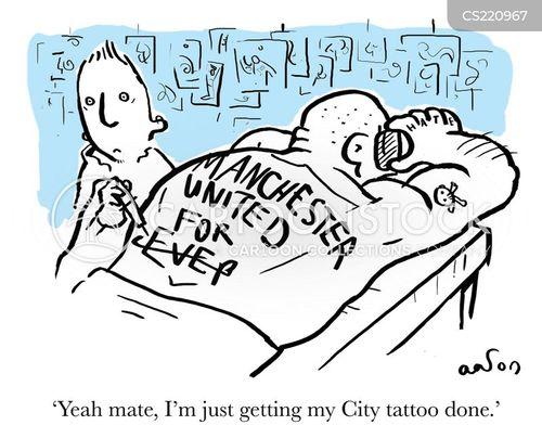 manchester unites cartoon