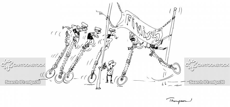 bicycle races cartoon