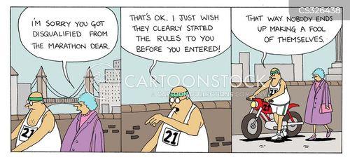disqualify cartoon
