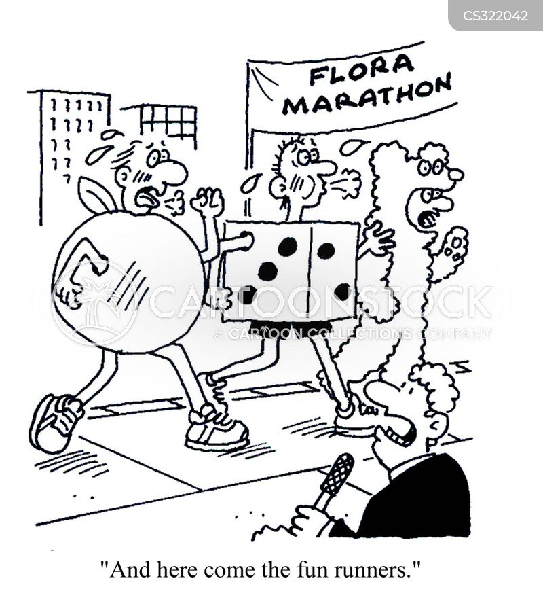 london marathon cartoon