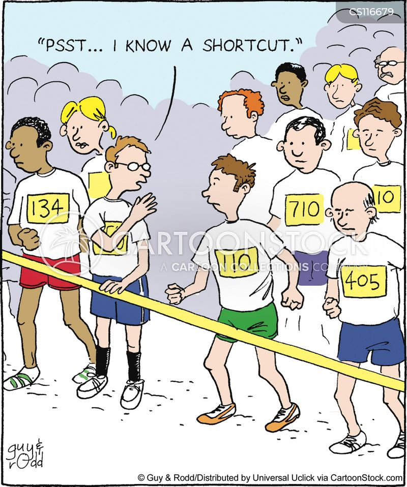 running cartoon