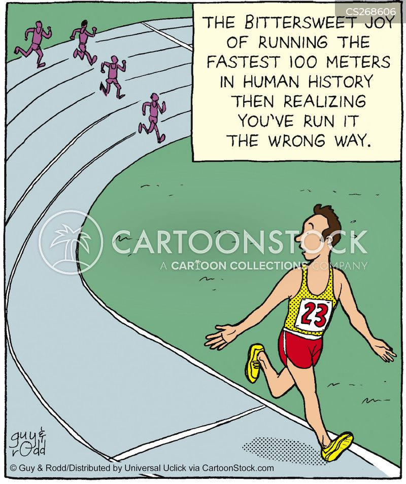 fun runs cartoon